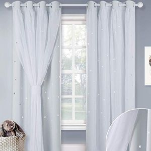 Other - NWT Nicetown 2 piece Star Cutout Curtains